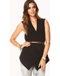 Forever 21 - Definitive Draped Vest W/ Belt - Lyst