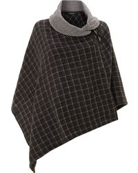Lauren by Ralph Lauren - Bridle Buckle Shawl Collar Poncho - Lyst