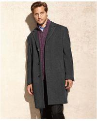 Calvin Klein Plaza Twill Cashmereblend Overcoat - Lyst