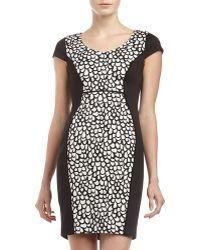 Marc New York By Andrew Marc Capsleeve Printinset Dress - Lyst