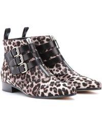 Tabitha Simmons Early Calf Hair Ankle Boots - Lyst