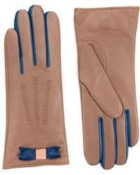 Ted Baker - Bowter Bow Leather Glove - Lyst