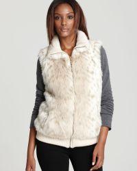 Ellen Tracy - Faux Snow Leopard Vest - Lyst