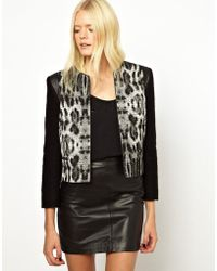 Helene Berman Mix Match Jacket with Contrast Front Panels - Lyst