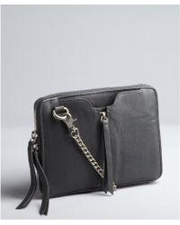 Kelsi Dagger Charcoal Leather Chain Strap Chelsea Rectangular Convertible Crossbody Bag - Lyst