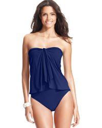 Lauren by Ralph Lauren Flyaway Tummy-Control One-Piece Swimsuit - Lyst