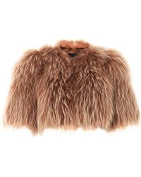 Marc Jacobs - Cropped Fur Jacket - Lyst