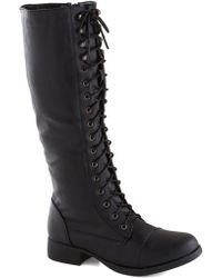 ModCloth Melodic Moment Boot in Black - Lyst