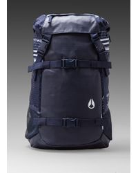 Nixon Landlock Backpack in Navy - Lyst