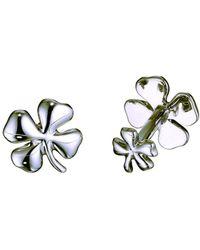 Robin Rotenier - Sterling Silver Four Leaf Clover Cufflinks - Lyst