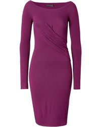 Donna Karan New York Draped Side Dress In Amethyst - Lyst