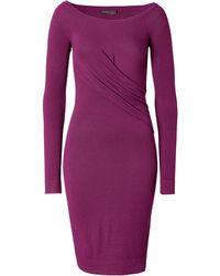 Donna Karan New York Draped Side Dress In Amethyst - Lyst