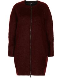 Topshop Mohair Oval Coat By Boutique - Lyst