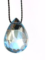 Vivien Frank Designs Wish Necklace with Blue Topaz and Silk - Lyst