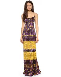 L'Wren Scott Sleeveless Multicolored Gown - Lyst
