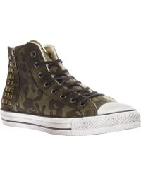 Converse Camouflage Hitop Trainers - Lyst