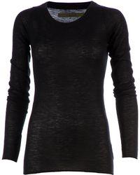 Enza Costa Round Neck Sweater - Lyst