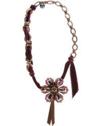 Lanvin Flower Necklace - Lyst