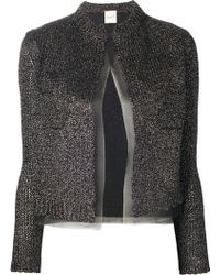 Nude - Sparkly Silver Cardigan - Lyst