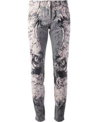 Roberto Cavalli Baroque Print Jeans - Lyst
