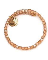 ALEX AND ANI - Euphrates Beaded Rose Gold Tone Wire Bangle - 100% Bloomingdale's Exclusive - Lyst