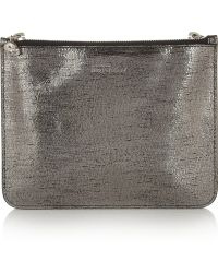 Alexander McQueen Two tone Metallic Leather Pouch - Lyst