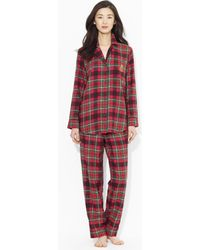 Lauren by Ralph Lauren - Plaid Cotton Pyjama Set - Lyst