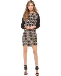 Myne Shift Dress With Contrast Sleeves - Scarf - Lyst