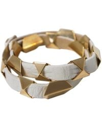 Ziba - Triangle Leather Wrap Bracelet - Lyst
