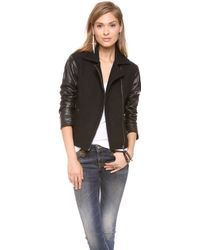 Bec & Bridge - Boucle Leather Bomber Jacket - Lyst
