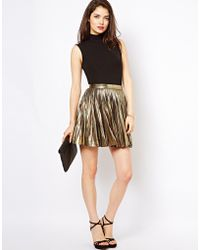 Beloved - Metallic Pleated Skirt - Lyst