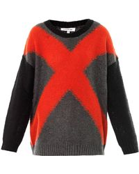 Elizabeth And James Xx Intarsia-knit Sweater - Lyst