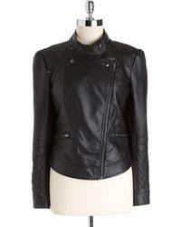 Jessica Simpson - Faux-leather Moto Jacket - Lyst