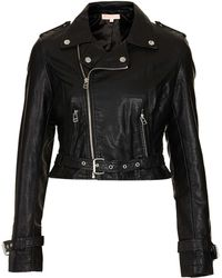 Topshop Pu Biker Jacket By Oh My Love - Lyst