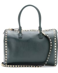 Valentino Rockstud Leather Bowling Bag - Lyst