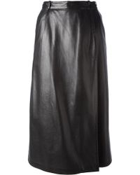 Yves Saint Laurent Vintage Wrap Skirt - Lyst