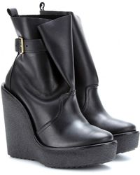 Pierre Hardy Leather Wedge Boots - Lyst