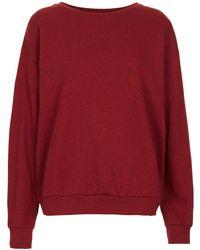 Topshop Slouchy Sweatshirt - Lyst