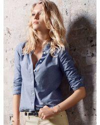 Victoria's Secret Chambray Dot Shirt - Lyst