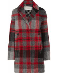 Burberry Brit - Plaid Woolblend Coat - Lyst