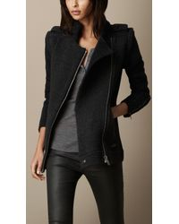 Burberry Zip Detail Cardigan Jacket with Removable Sleeves - Lyst