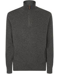 Polo Ralph Lauren Cashmere Half Zip Pullover - Lyst