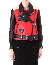 Acne Studios Merci Leather Biker Jacket - Lyst