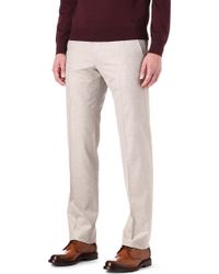 Armani Flannel Regular Fit Mid Rise Trousers - Lyst