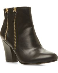 Dune Noras Leather Ankle Boots Black - Lyst