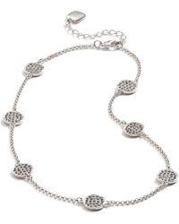 Lauren by Ralph Lauren - Silvertone Pave Crystal Illusion Necklace - Lyst