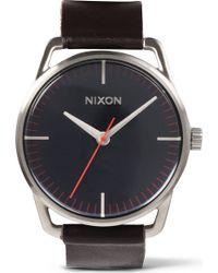 Nixon Mellor Navy Brown Watch - Lyst