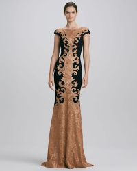 Theia Baroquelace Gown - Lyst