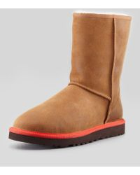 Ugg Classic Contrast-Midsole Short Boot - Lyst