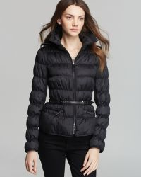Burberry Sutherland Short Quilted Belted Coat - Lyst